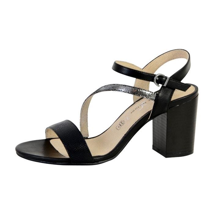 Sandale à talon  noir The Divine Factory  La Redoute