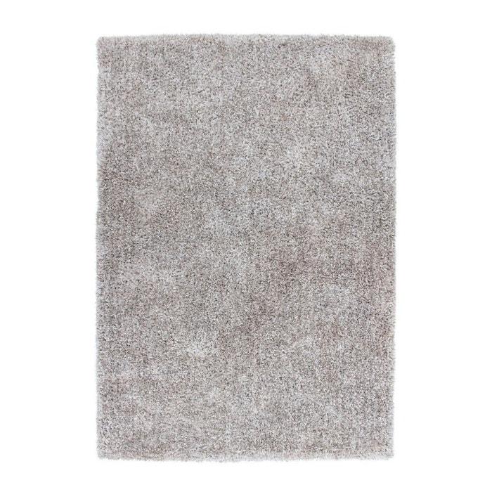 Tapis Blanc Argenté : Tapis fait main shaggy argenté et blanc style par lalee