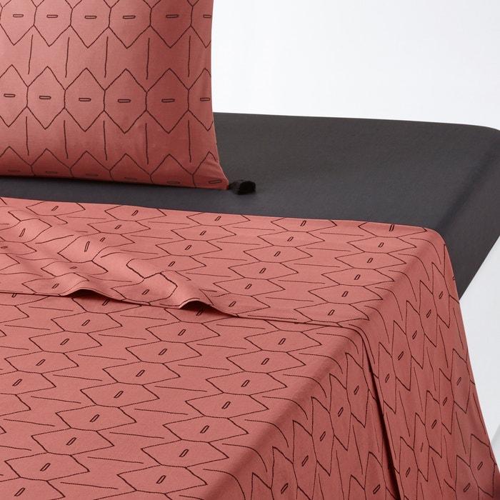 drap plat uni mirni rose noir la redoute interieurs la. Black Bedroom Furniture Sets. Home Design Ideas