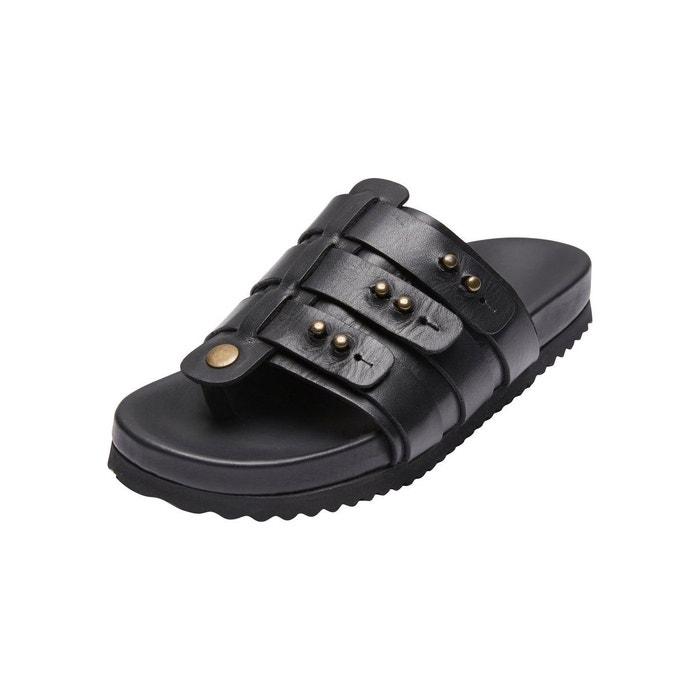 Sandales cuir - black Selected Femme