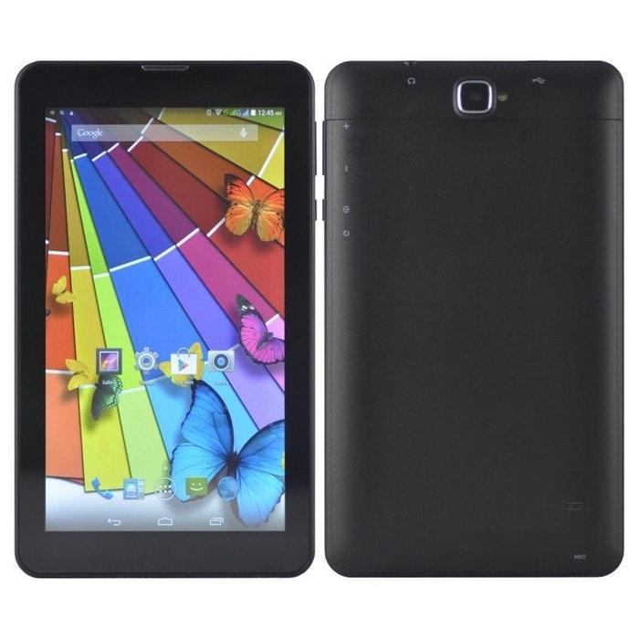 tablette 7 pouces 3g android 6 0 dual sim bluetooth cpu 1gb ram quad core 8go noir yonis la. Black Bedroom Furniture Sets. Home Design Ideas