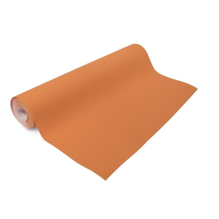 Mandarine Uni Papier Peint Intisse 10 M X 52 Cm Orange Graham Et