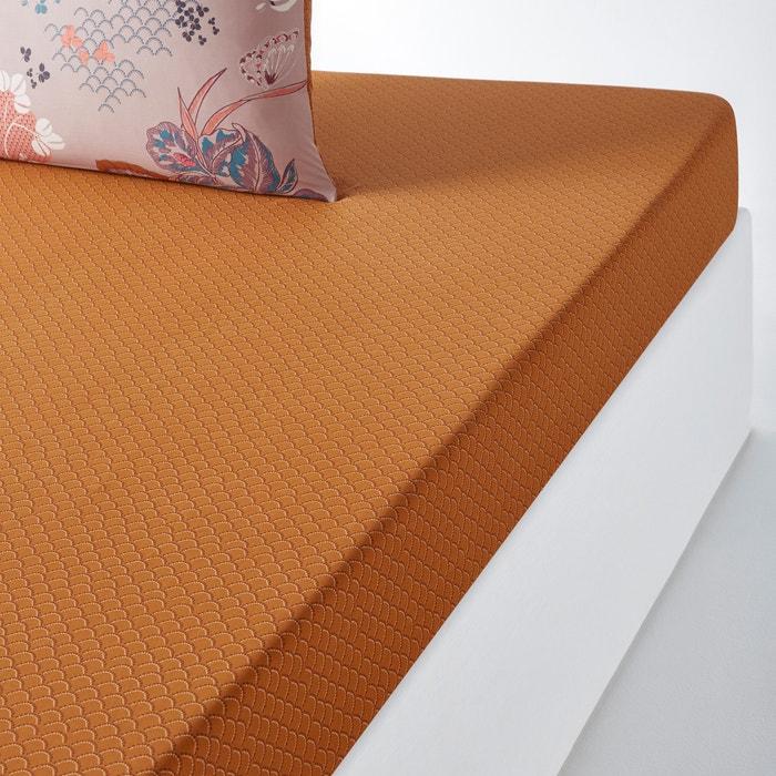 Lençol-capa em percal de algodão, CHINESE FLOWER  La Redoute Interieurs image 0