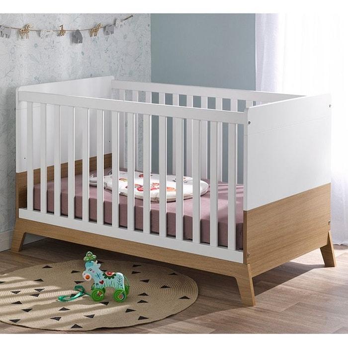 lit b b volutif ines 70x140 blanc ch ne blanc ch ne alfred et compagnie la redoute. Black Bedroom Furniture Sets. Home Design Ideas
