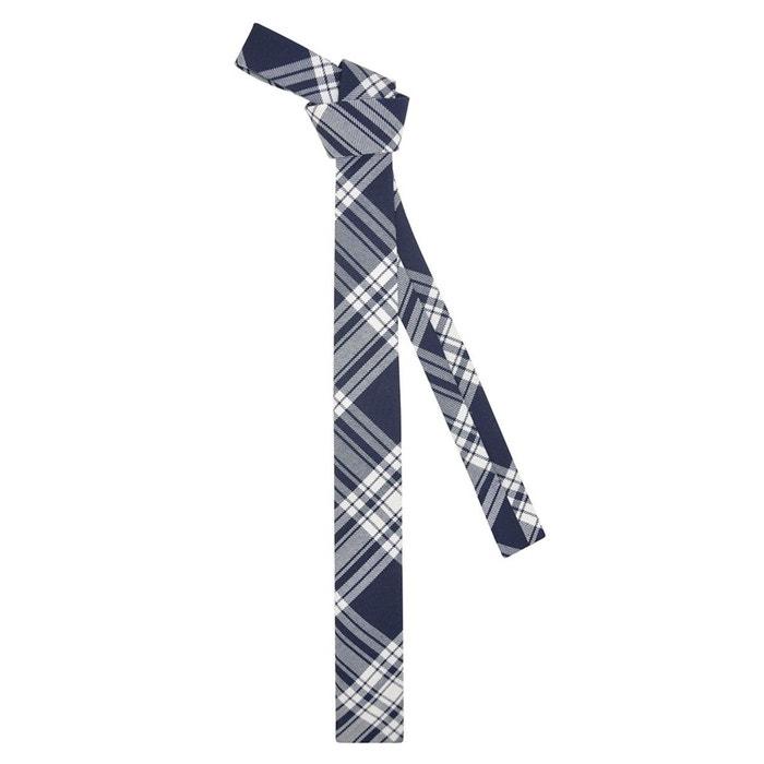 Cravate à motif tartan marine et blanc bleu marine Ikonizaboy   La Redoute Pour Pas Cher Pas Cher ONKQp
