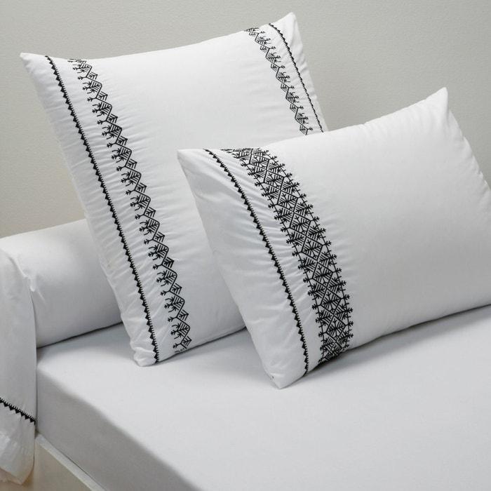 Image Federa per guanciale o per cuscino cilindrico in percalle, SHANEZIA La Redoute Interieurs