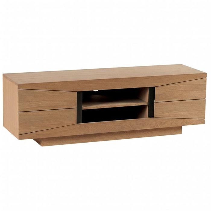 meuble tv ch ne massif 2 portes dario ch ne cir pier import la redoute. Black Bedroom Furniture Sets. Home Design Ideas