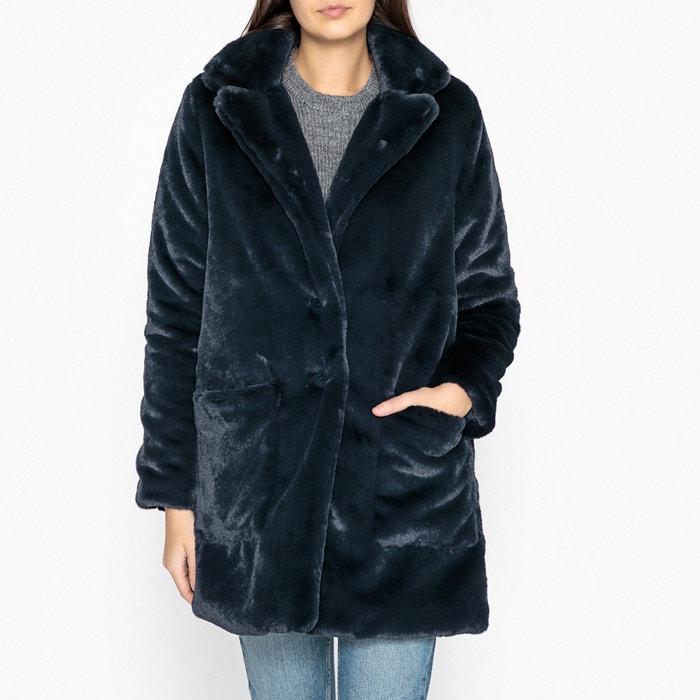 Пальто длинное с искусственным мехом REINA  BERENICE image 0
