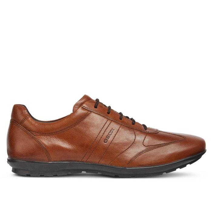 6042252b Zapatillas transpirables de piel symbol marrón Geox | La Redoute