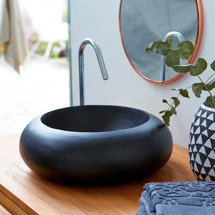 vasque de salle de bain en terrazzo acqua black terrazzo tikamoon la redoute. Black Bedroom Furniture Sets. Home Design Ideas