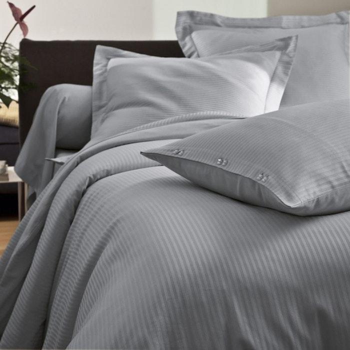 taie d 39 oreiller unie satin jacquard tradition des vosges la redoute. Black Bedroom Furniture Sets. Home Design Ideas