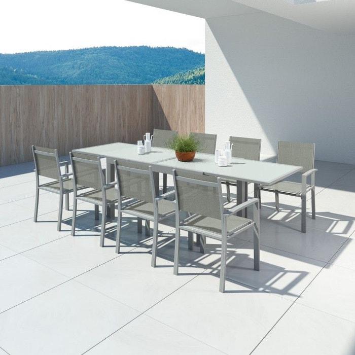 De ExtensibleAluminium140280cm8 Table Jardin Fauteuils eEHW2D9IY