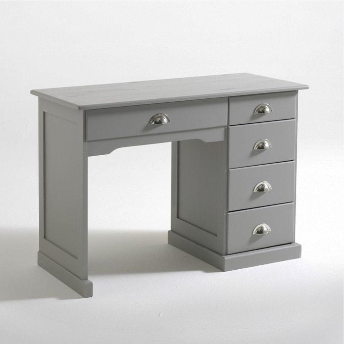 bureau pin massif betta bois clair taupe la redoute interieurs en solde la redoute. Black Bedroom Furniture Sets. Home Design Ideas