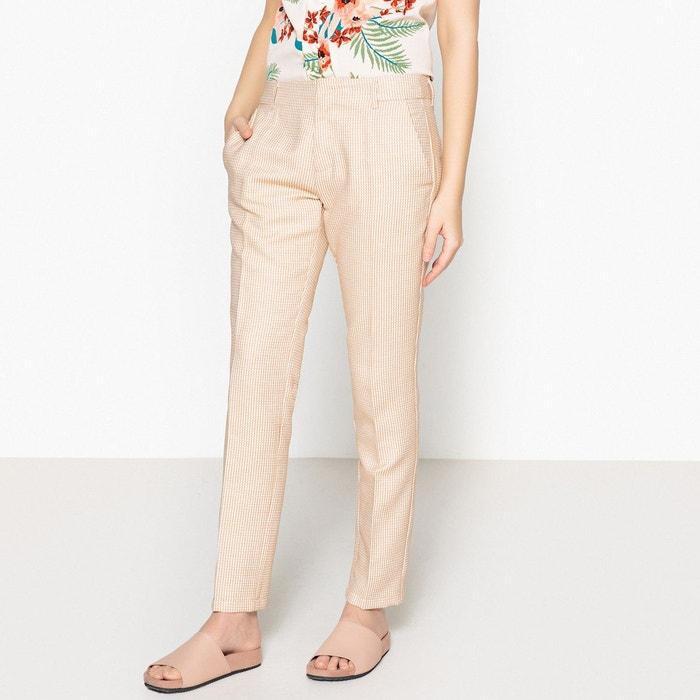Pantalon slim lizzy fancy jaune Reiko   La Redoute f3902b1a5645