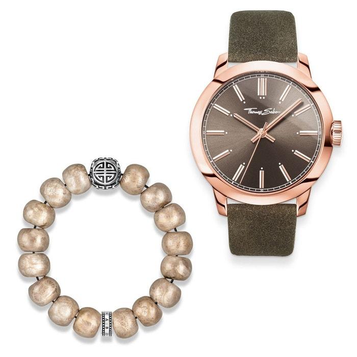 Montre pour homme rebel at heart avec bracelet argenté, beige, couleur or rose Thomas Sabo | La Redoute