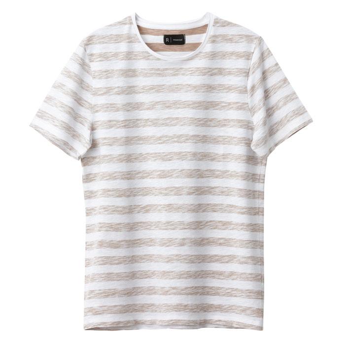redondo Tex Camiseta corta Collections manga y Redoute cuello Oeko La con wEvXxqZO
