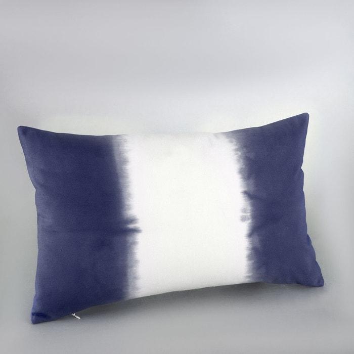 housse de coussin tie and dye tonin bleu indigo blanc la redoute interieurs la redoute. Black Bedroom Furniture Sets. Home Design Ideas