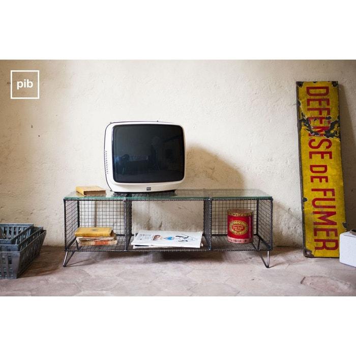meuble tv ontario transparent produit interieur brut la redoute. Black Bedroom Furniture Sets. Home Design Ideas
