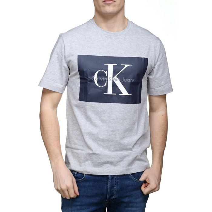 Gris Courtes Shirt Calvin Klein Manches La Redoute Tee xq1a6Swn 9f349ed0964