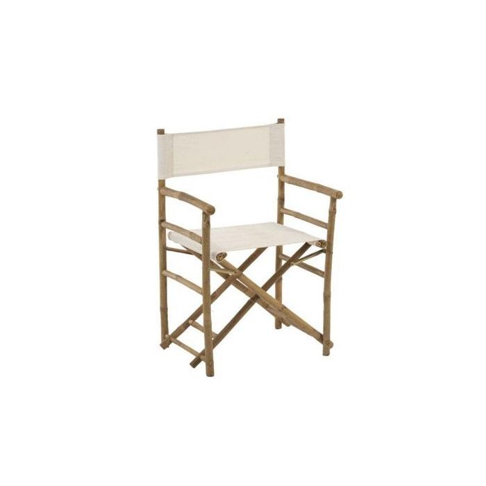 Accoudoirs Jardin Chaise En Bambou Tissu Pliante De Blanc Avec Et y7YfIvb6g