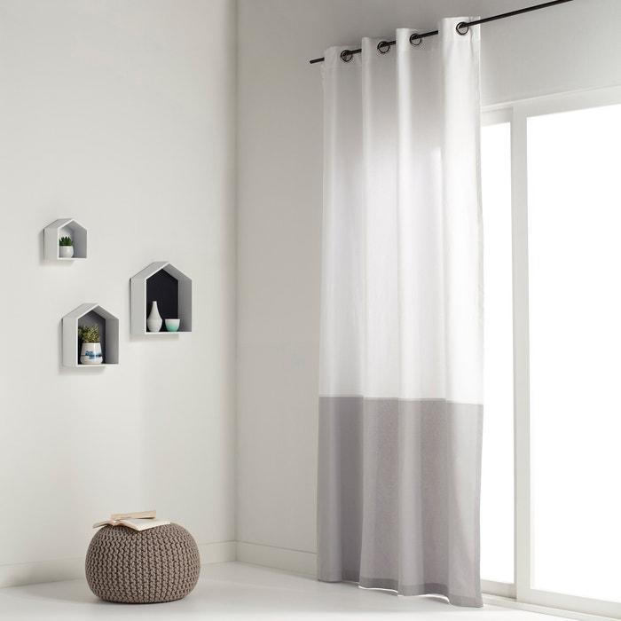 Cortinado bicolor puro algodão, ilhós, AGURI La Redoute Interieurs