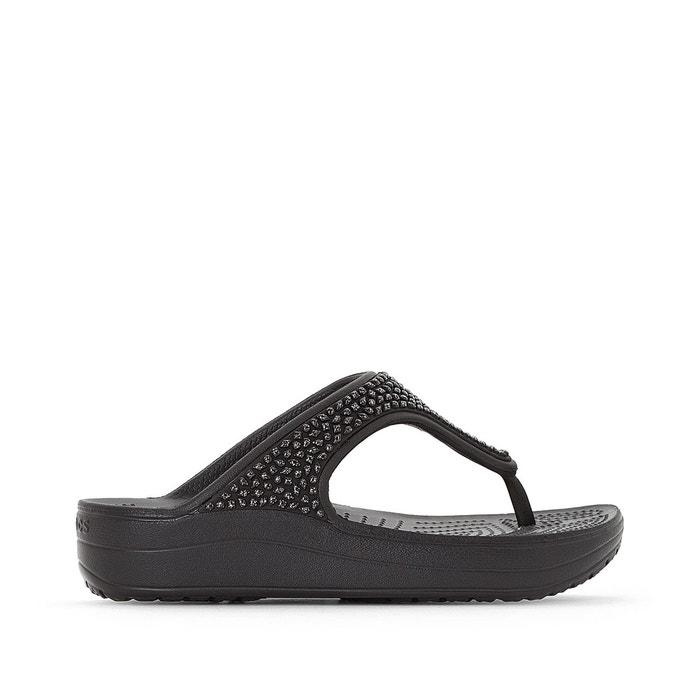 Crocs Sloane compensées Embellished CROCS Tongs Flip qTRxwRZHU