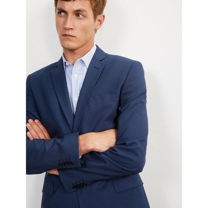 Veste costume homme travel suit bleu moyen uni Cyrillus  54bde2f74e7