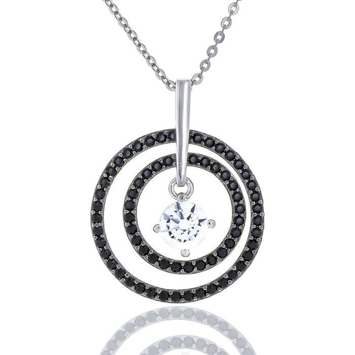 ebay Collier argent oxydes noirs et blancs cercles victoria kiss oxyde de zirconium Ysora | La Redoute Le Plus Grand Fournisseur En Vente Très À Vendre gr3HN8Mf