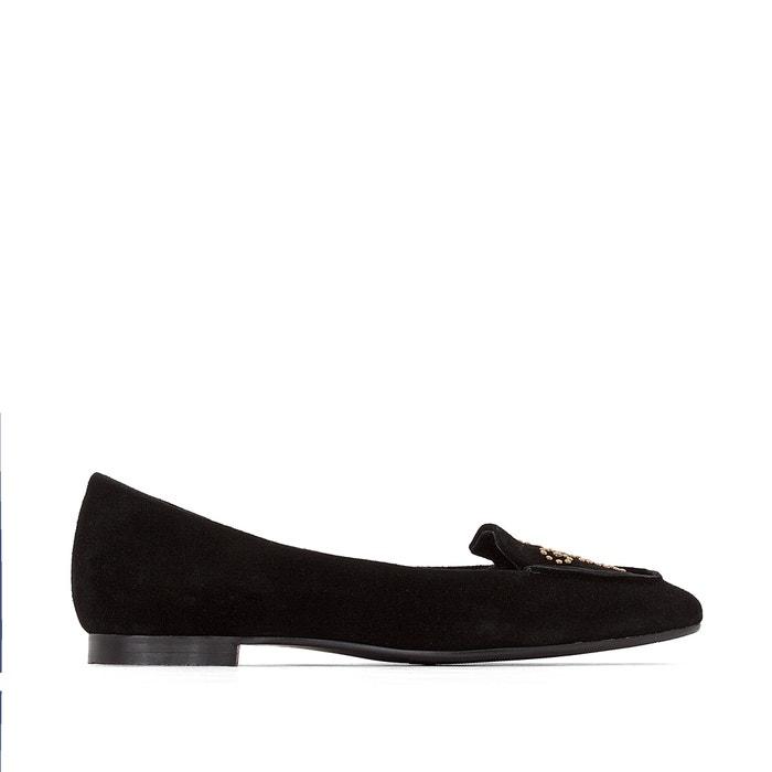 afbeelding Leren ballerina's met studs, brede voet, 38-45 CASTALUNA