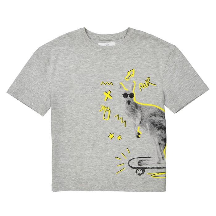 T-shirt oversize con motivo canguro da 3 a 12 anni  La Redoute Collections image 0