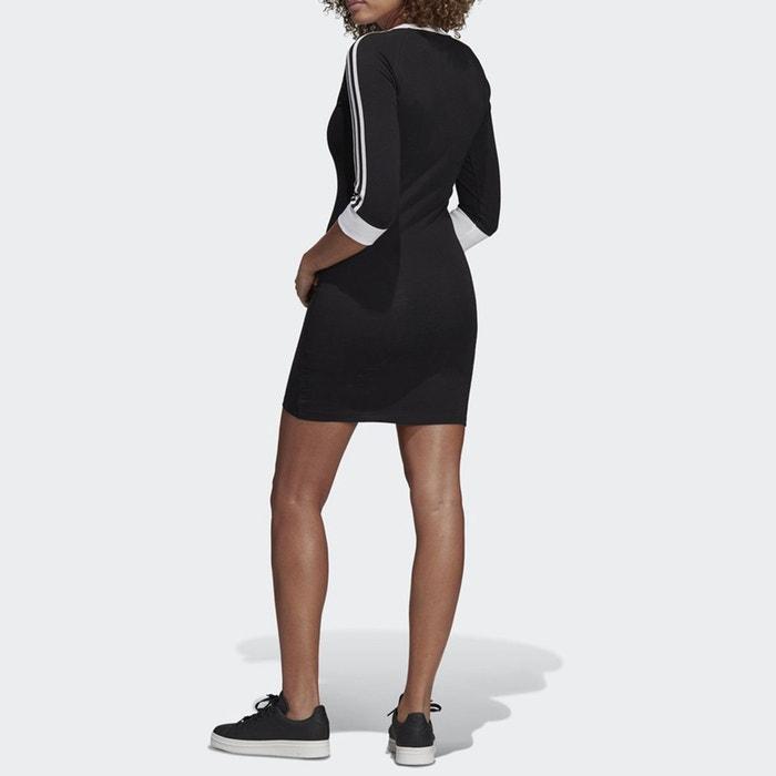 3a42ee48993da Robe sweat ro 3 stripes dress noir Adidas Originals   La Redoute