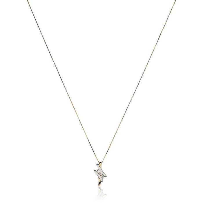Collier or 375/1000 diamants 0,05 ct blanc Cleor | La Redoute