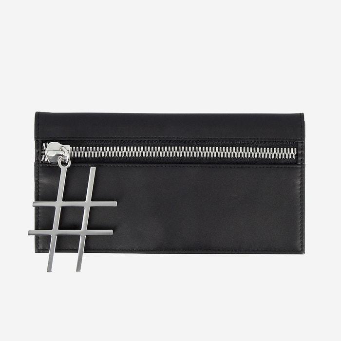 plus récent 3a94a 60be6 Portefeuille pour femme Élegant en cuir au design fin avec fermeture à  glissière et porte-cartes de crédit