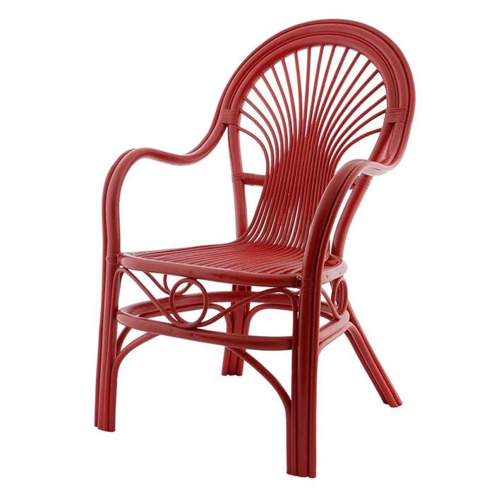fauteuil romeo rouge en rotin rouge hermes rotin design. Black Bedroom Furniture Sets. Home Design Ideas