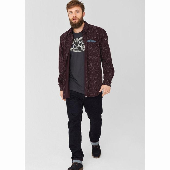 larga S estampada Camisa OLIVER manga Rnwx7Ivq