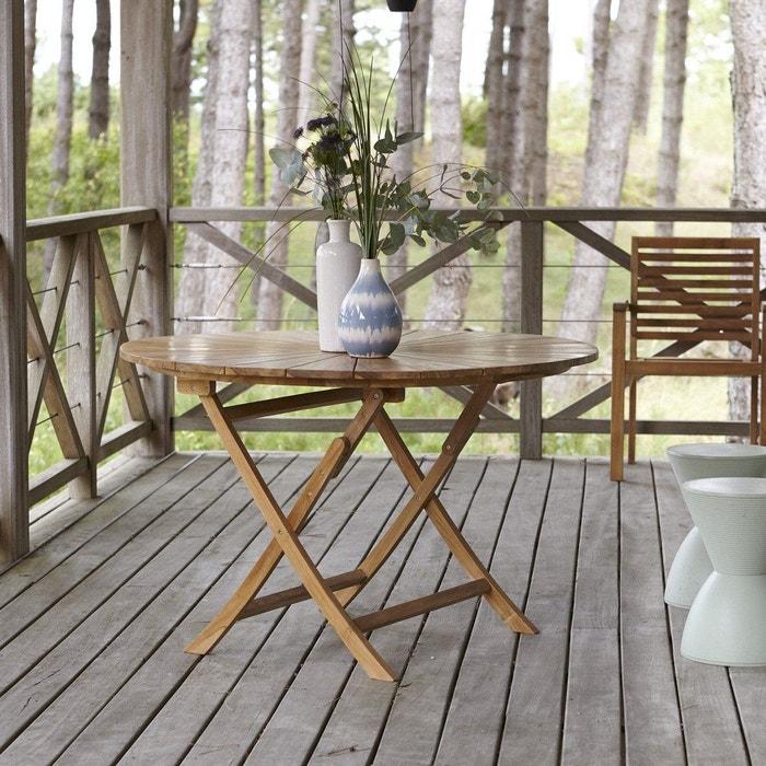 Table de jardin en bois de teck 120 Andria