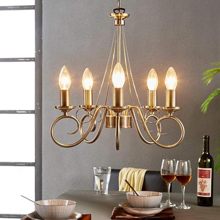 lustre en m tal antique marnia laiton ancien lampenwelt. Black Bedroom Furniture Sets. Home Design Ideas