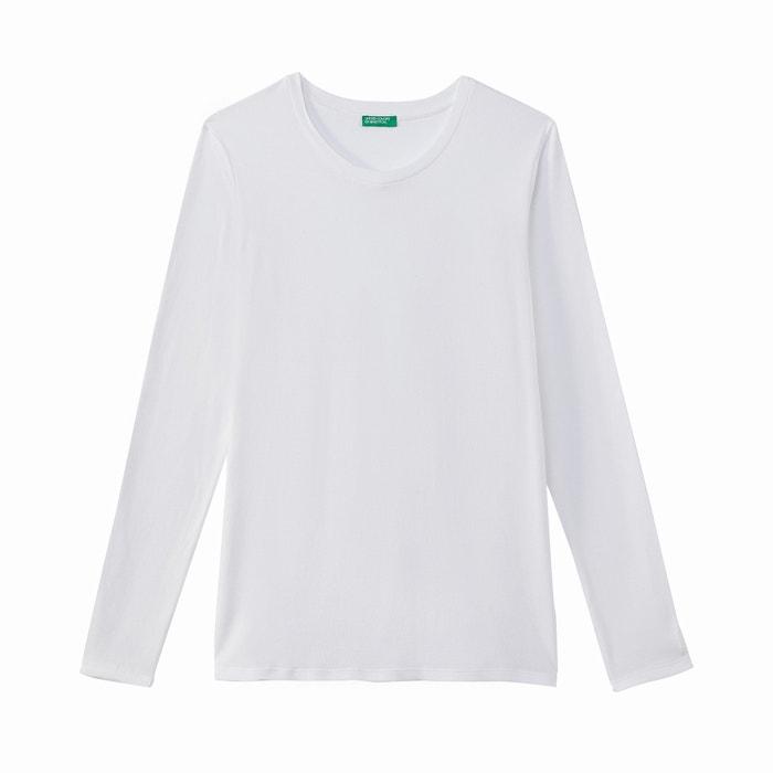 redondo BENETTON con cuello larga manga Camiseta de 1wawt8