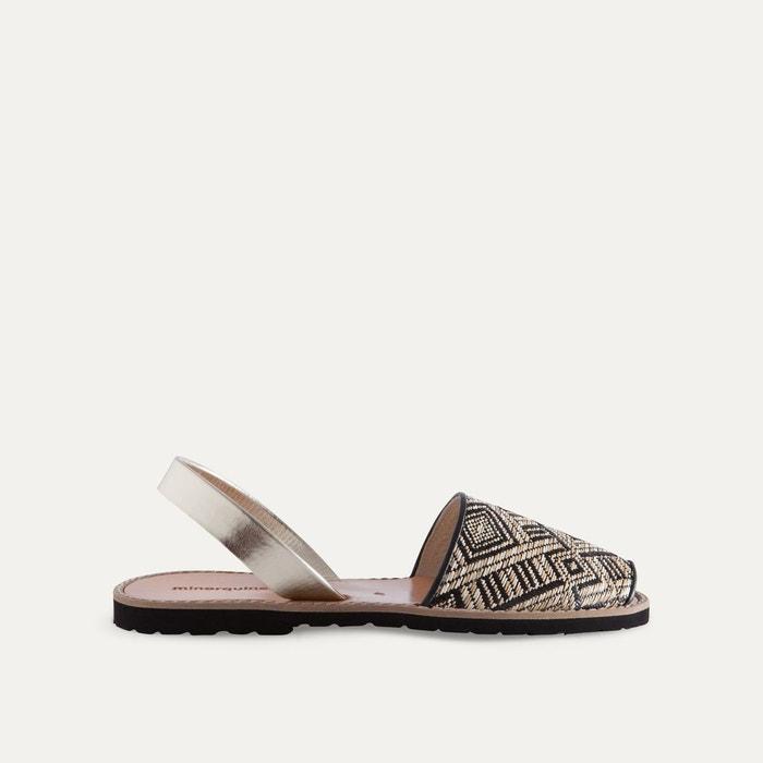Sandales plates bicolores AVARCA RAFIA  MINORQUINES image 0