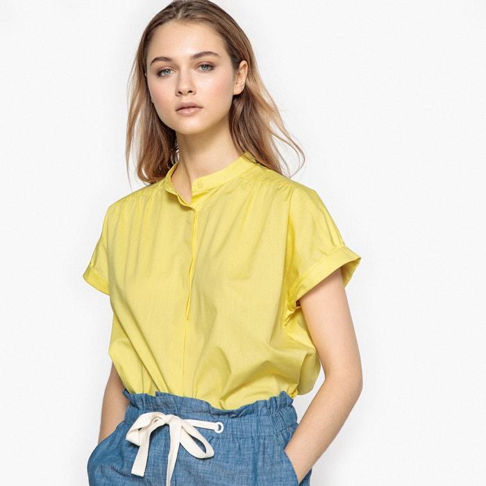Camisa corte recto, de manga corta, 100% algodón  La Redoute Collections image 0