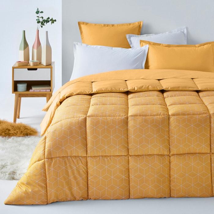 edredon microfibra decio amarelo branco la redoute interieurs la redoute. Black Bedroom Furniture Sets. Home Design Ideas