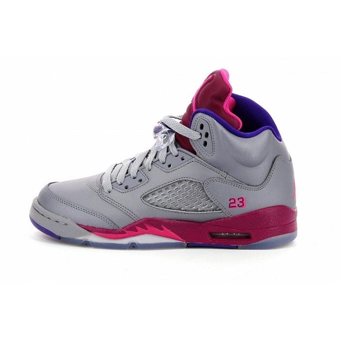 save off 9e917 8ec7c Basket air jordan 5 retro junior argent Nike  La Redoute