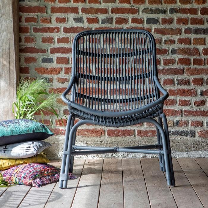 fauteuil en rotin pia grey rotin tikamoon la redoute. Black Bedroom Furniture Sets. Home Design Ideas