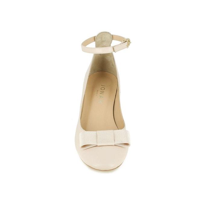 Jonak Shoes Babies Leather, Wide Heels, Vahe