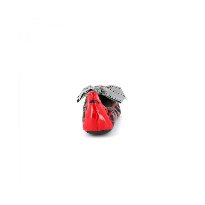 Ballerines léopard jabrept rouge Cassis Cote Dazur