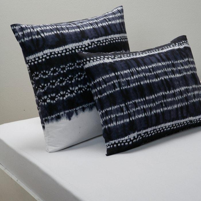 taie d 39 oreiller imprim e nara bleu fonc la redoute interieurs la redoute. Black Bedroom Furniture Sets. Home Design Ideas