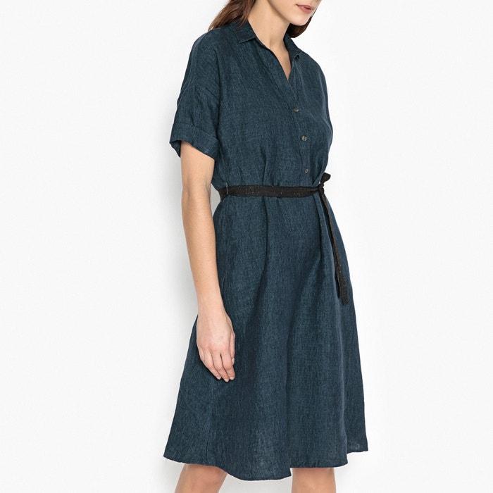 Rafiana Short-Sleeved Linen Shirt Dress  DIEGA image 0