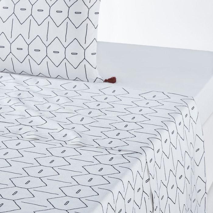 drap plat uni coton lav mirni la redoute interieurs la. Black Bedroom Furniture Sets. Home Design Ideas