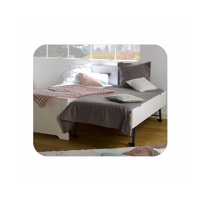 sommier gigogne enfant 90x190 cm pour lit mel et lune avec fa ade blanc ma chambre d 39 enfant la. Black Bedroom Furniture Sets. Home Design Ideas