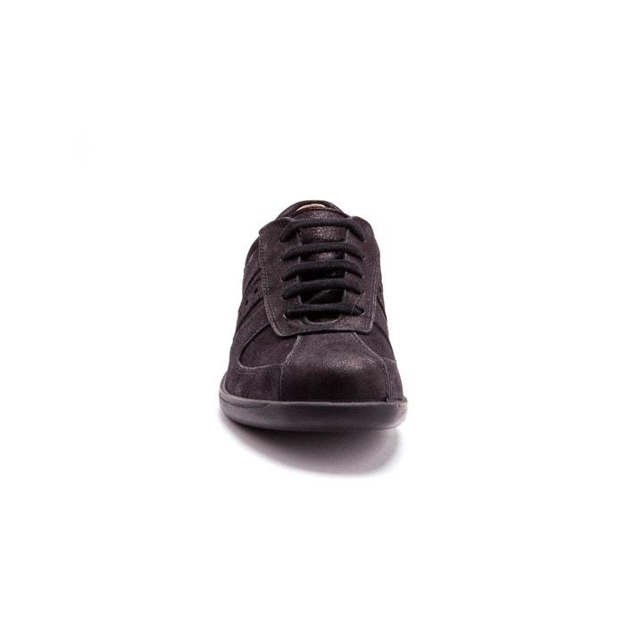 Baskets cuir à lacets et aérosemelle® amovible Secrets De Mode